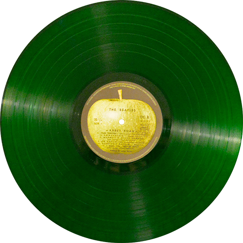 Colored vinyl record png. The beatles abbey road
