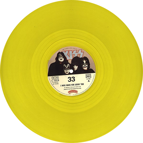 Colored vinyl single png. Kiss i was made
