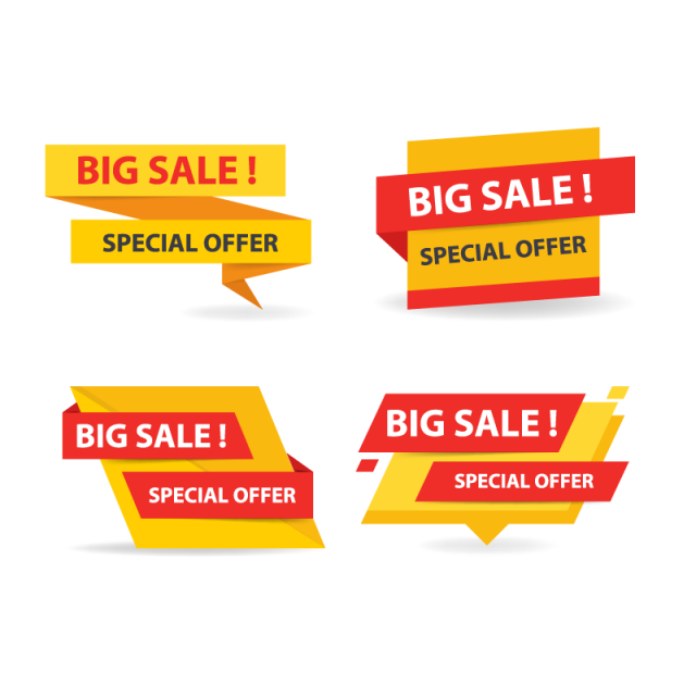 Colorful banner png. Shopping sale offer and