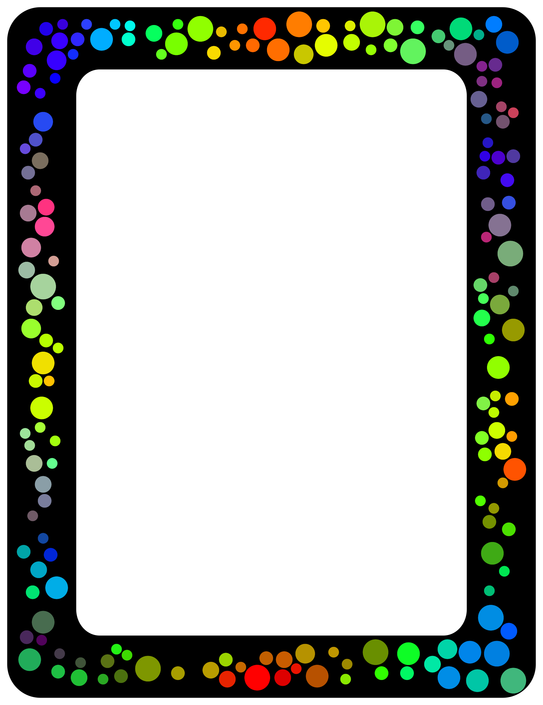 Colorful borders png. Dot border icons free