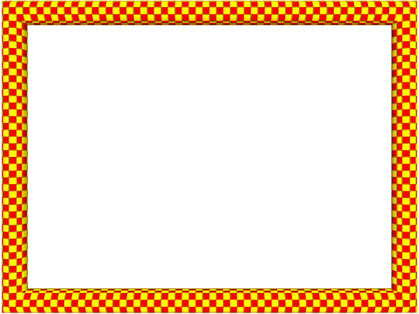 Colorful borders png. Red yellow funky checker