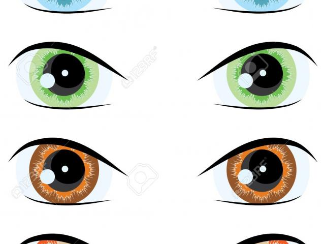 Colorful eyes. Free green clipart download
