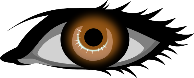 Colorful eyes. Free eye color cliparts