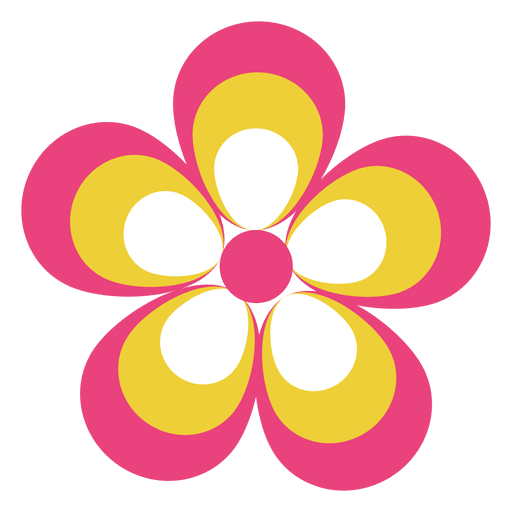 Colorful flower png. Icon transparent svg vector