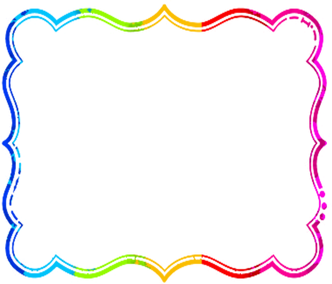 Colorful frames and borders png. Rainbowborder boardes pinterest blog