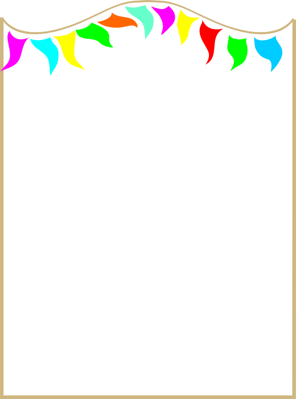 Colorful frames and borders png. Illustration of a blank