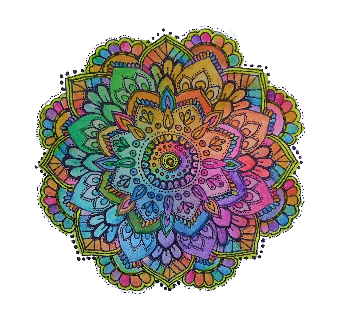Colorful mandala png. Mandalas a simple relaxer