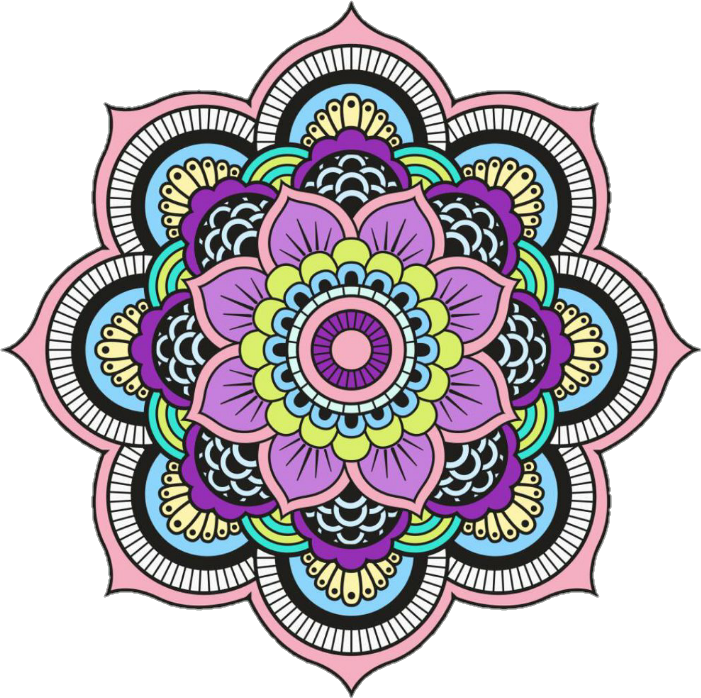 Colorful mandala png. Colors overlay tumblr