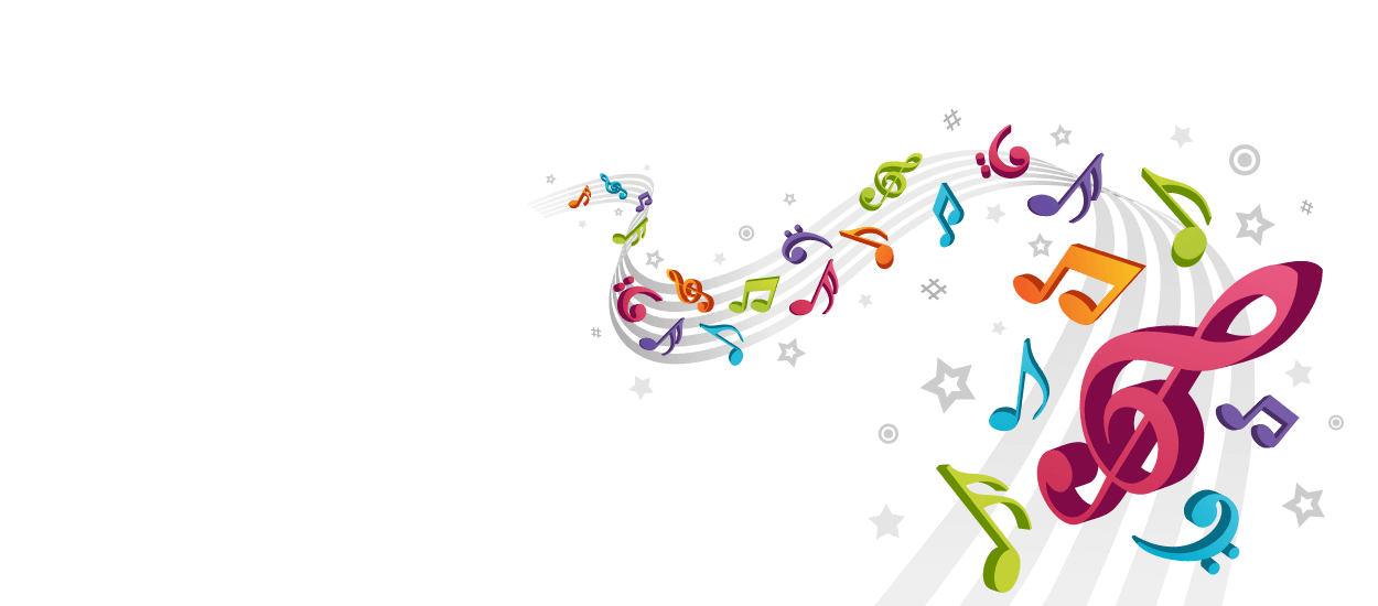 Colorful music note png. Transparent notes clipart picture