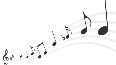 Download free transparent image. Colorful music notes background png picture stock