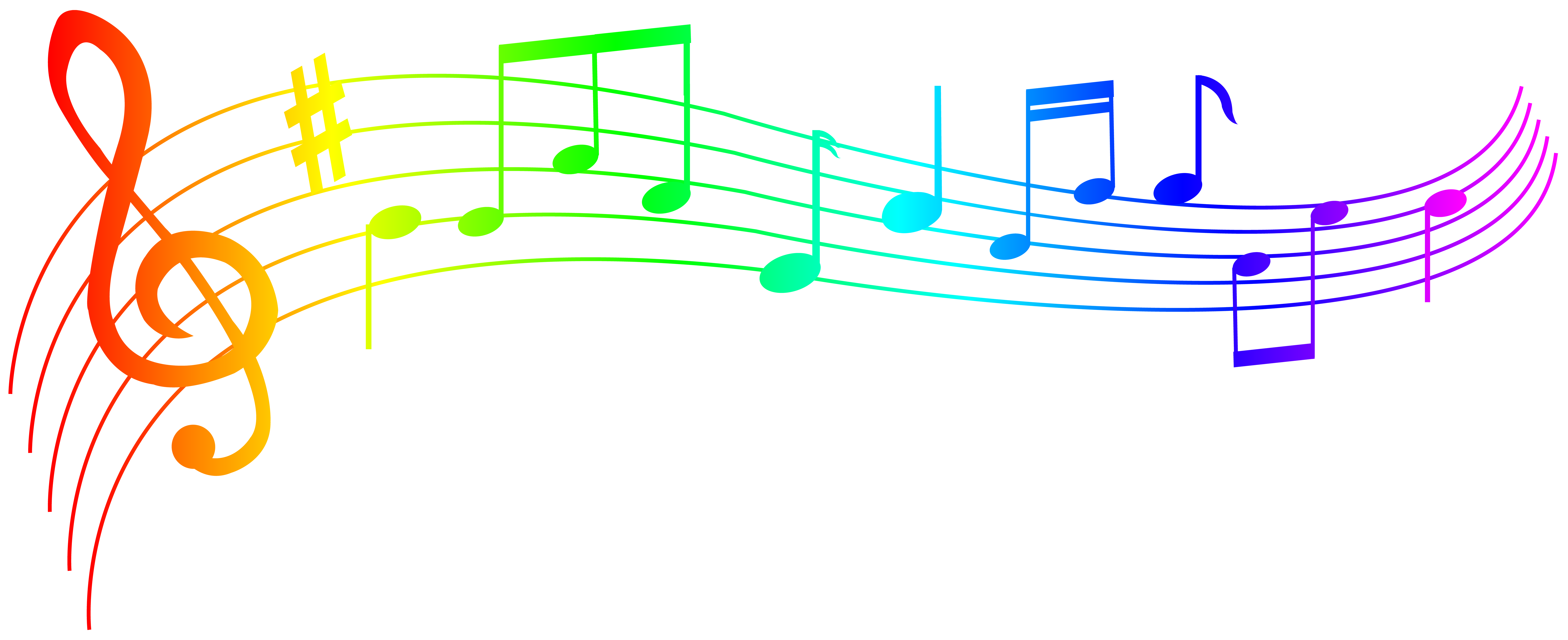 Colorful musical notes png. Clip art image gallery