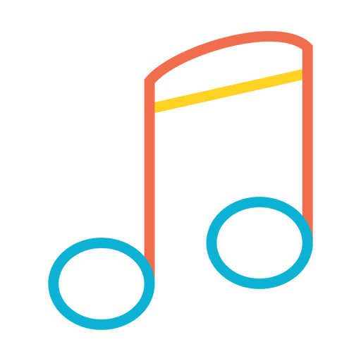 Clip icon colorful. Music note transparent png