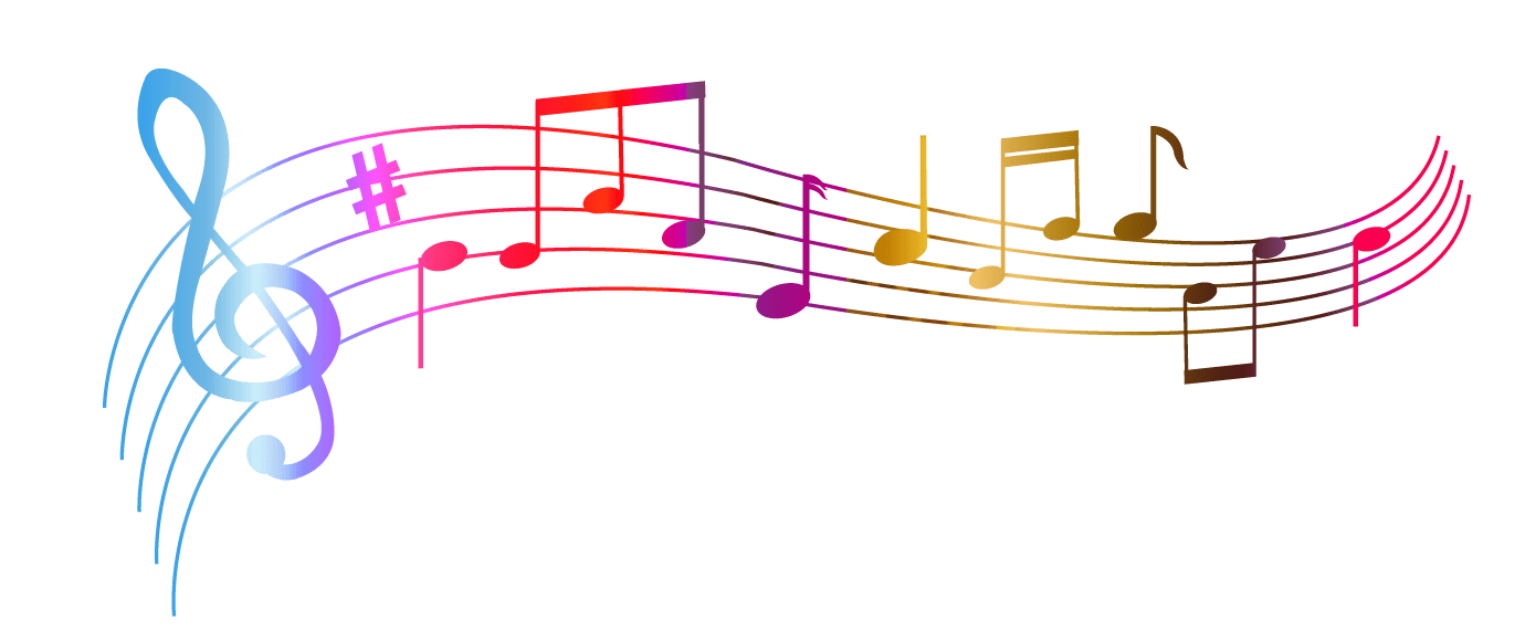 Colorful music notes background png. Colourful transparent stickpng download