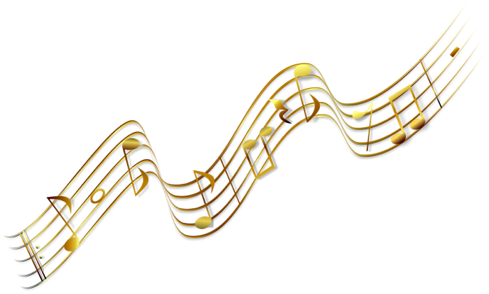 Colorful music notes on a staff png. Musical clipart panda free