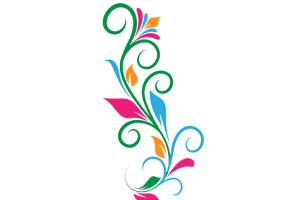 Colorful music notes on a staff png. Image previous