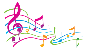 Colorful musical notes png. Clipart panda free images