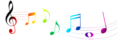Colorful musical notes png. Download free transparent image