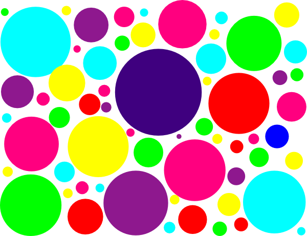 Colorful polka dots png. Multi colored clip art