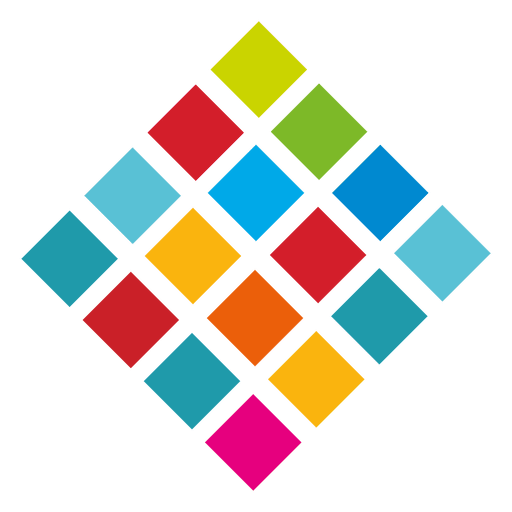 Cubes vector abstract. Colorful diamond logo transparent