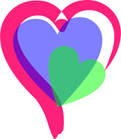 Colorful vector heart. Colors logo ai free