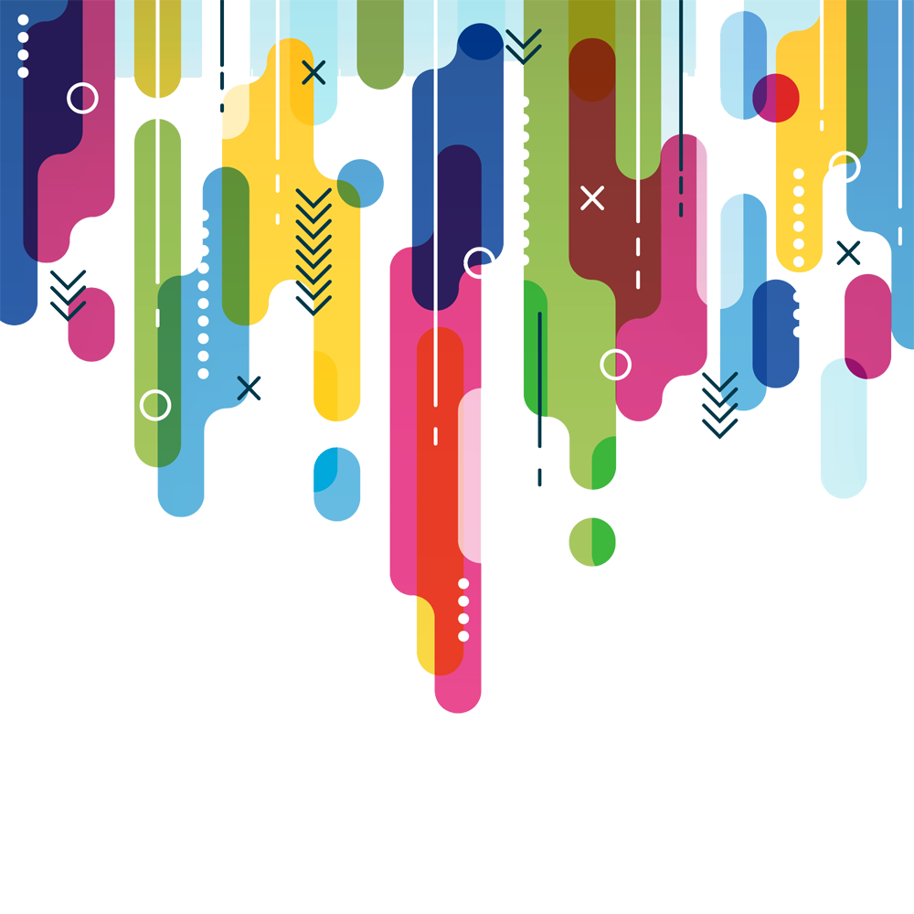 Colorful vector line. Abstract png background peoplepng