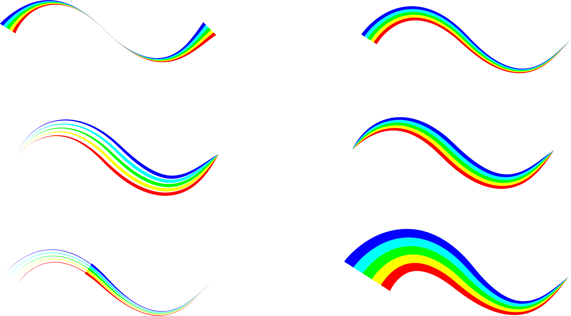 Colorful waves png. Abstract icons free and