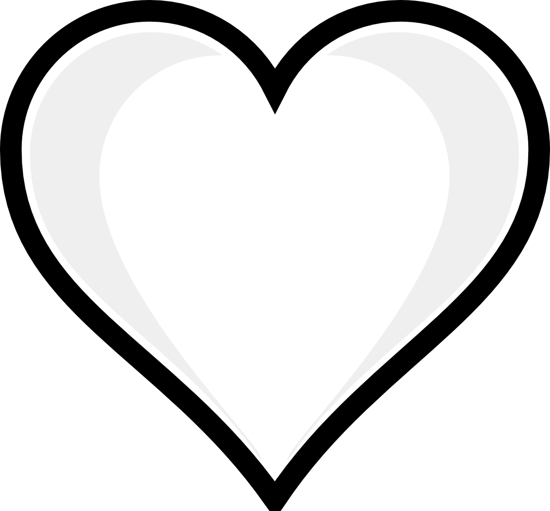 Coloring clipart heart. Clip art page get