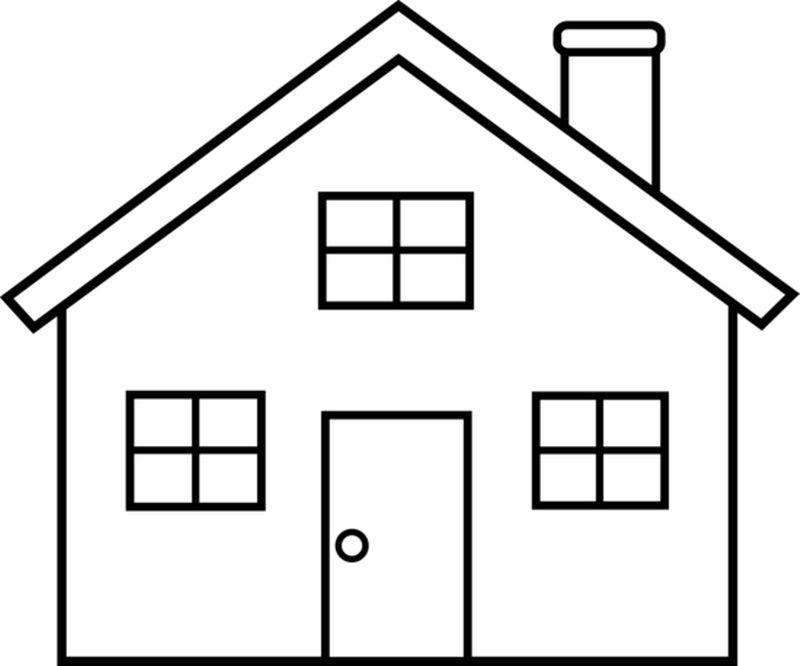 Coloring clipart house, Picture #341485 coloring clipart house