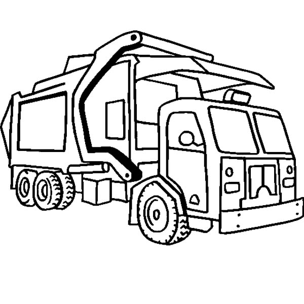 Coloring Truck Transparent Clipart Free Download