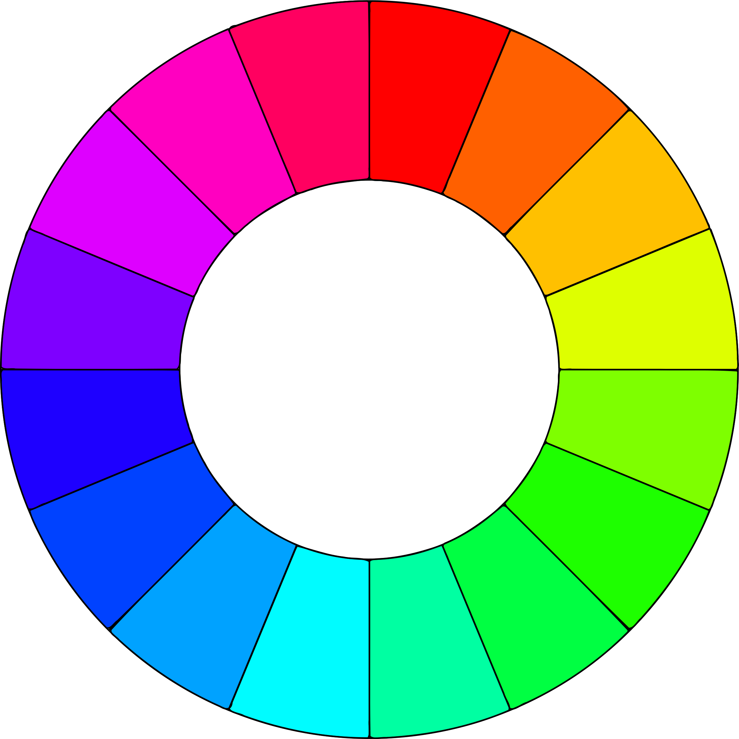 How to change the color of a png image. Clipart wheel colors big