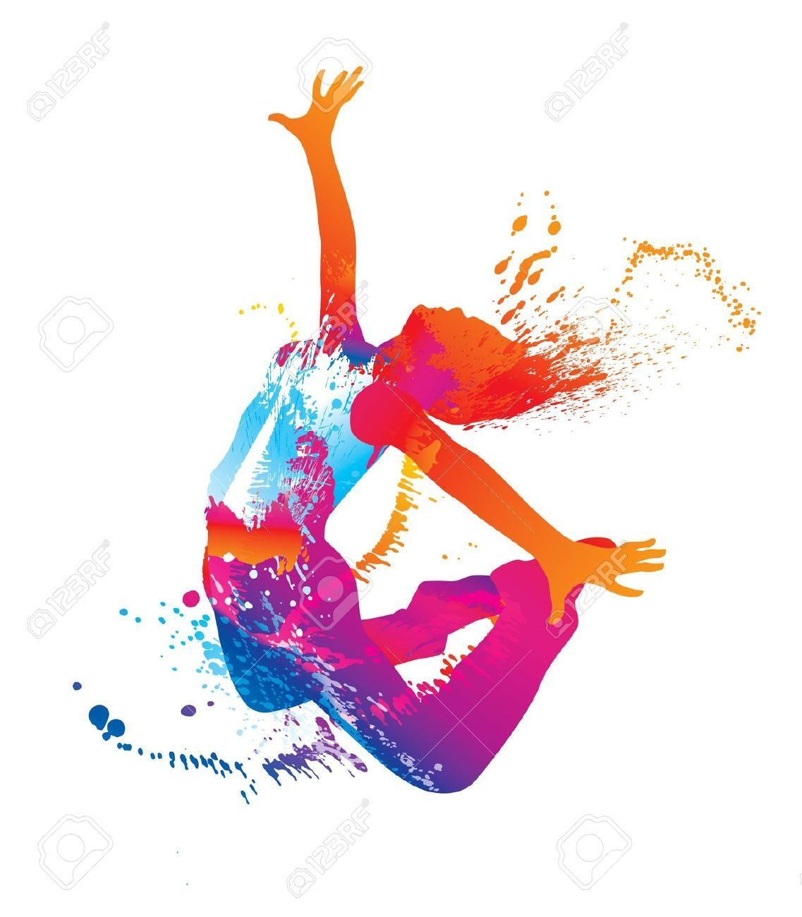 Colors clipart dance. Jump the dancing girl