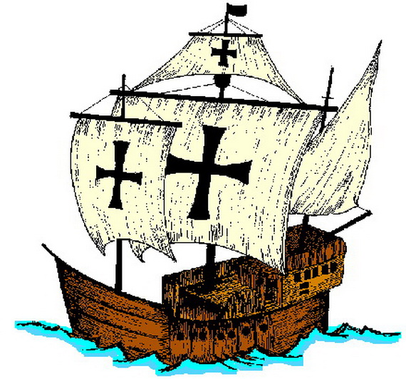 Christopher Columbus 3 Ships Coloring Page Christopher columbus ... | 532x570