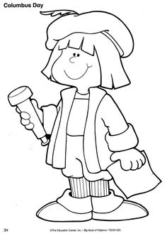 Columbus clipart drawing. Christopher coloring page nina