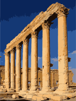 Column clipart old temple. The five orders of