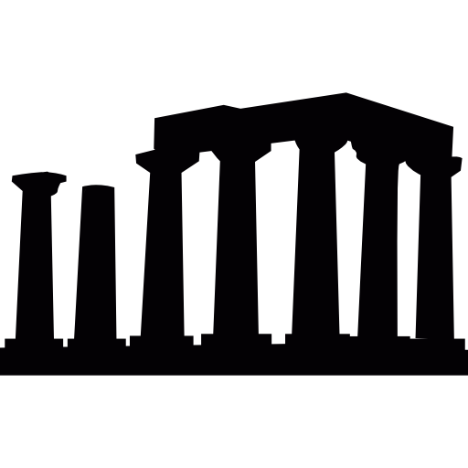 Temple of apollo in. Vector roof greek building clip free stock