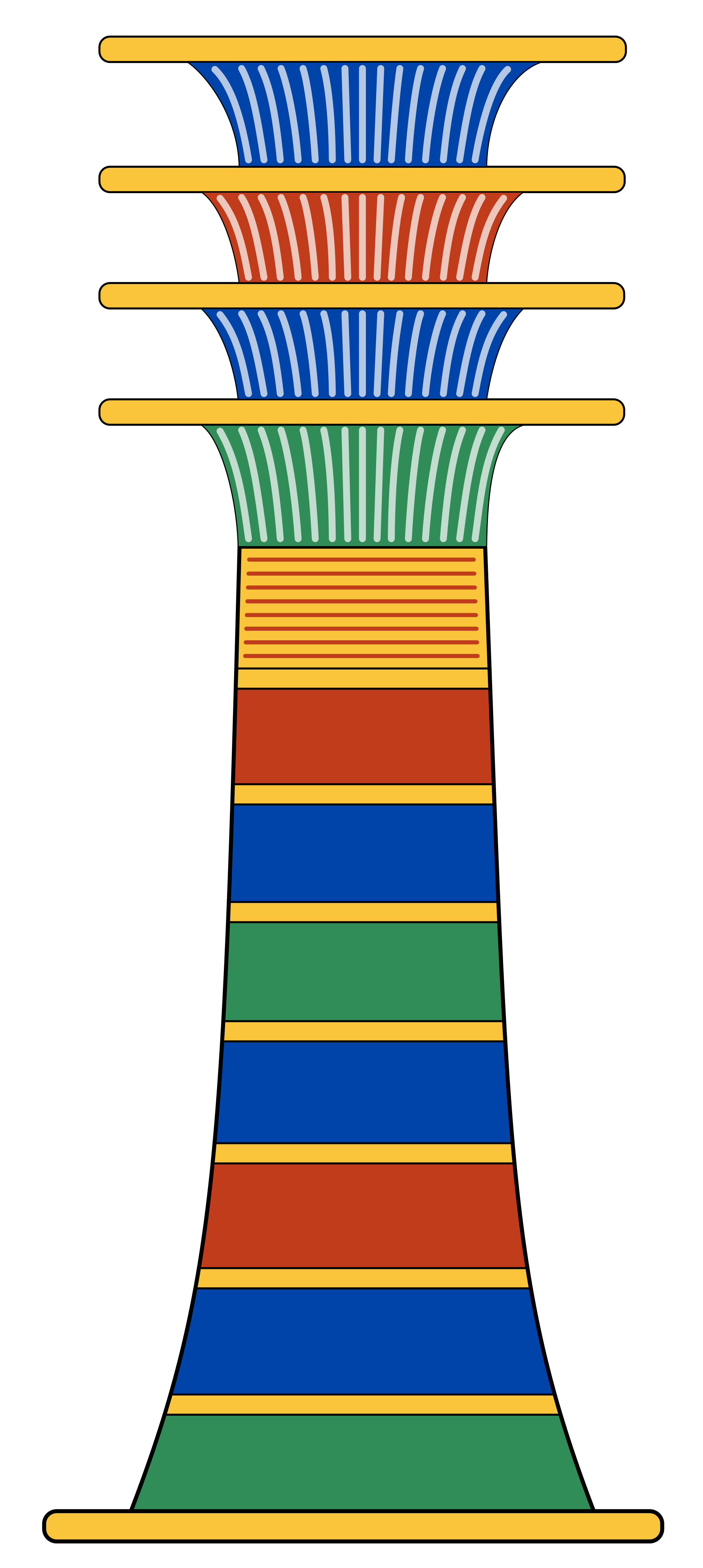 Column clipart svg. File djed wikimedia commons