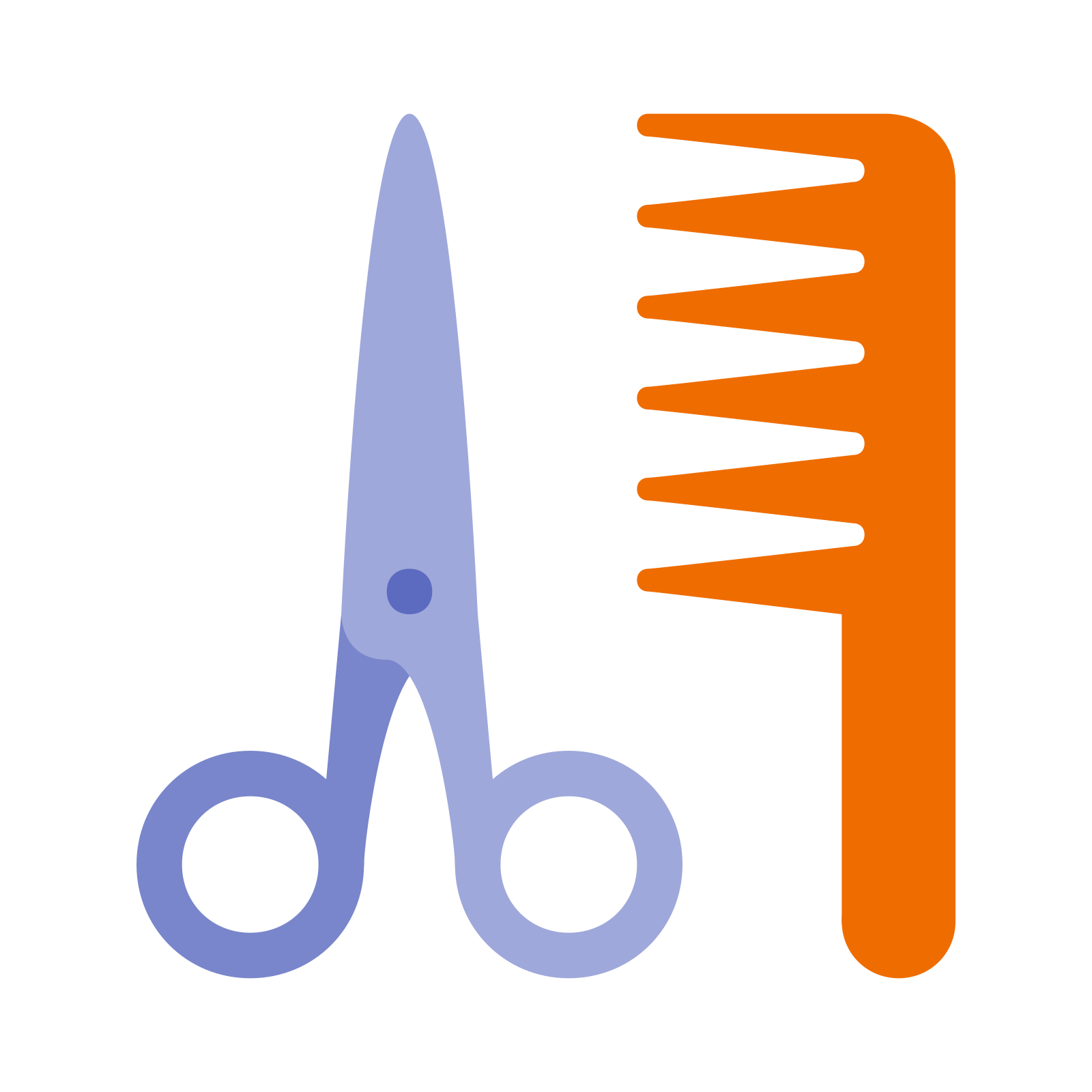 Comb svg beautician. Barbershop icon free png