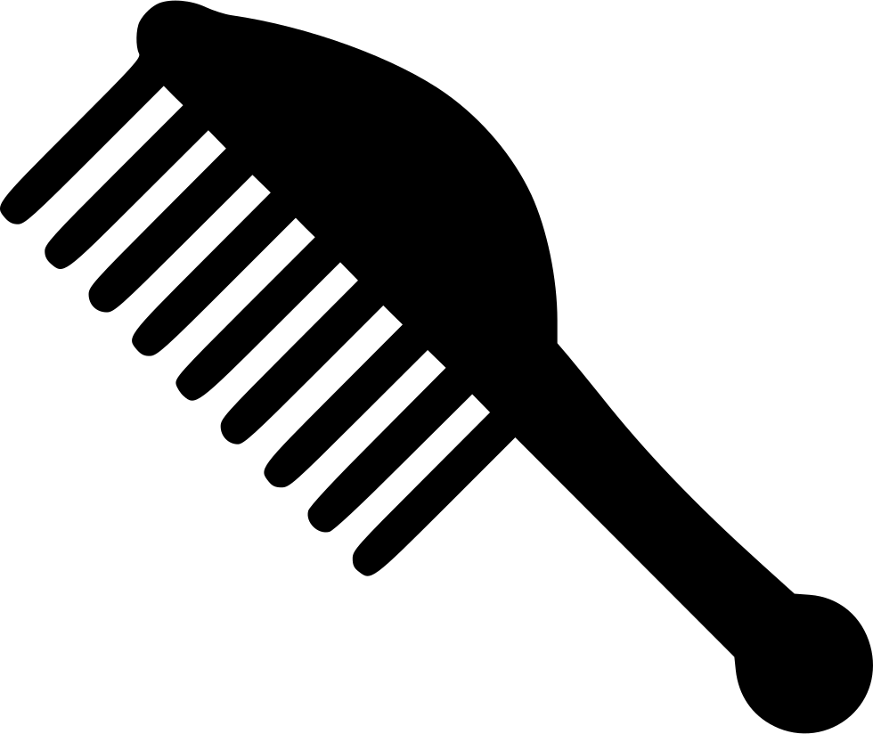 Comb svg black. I png icon free