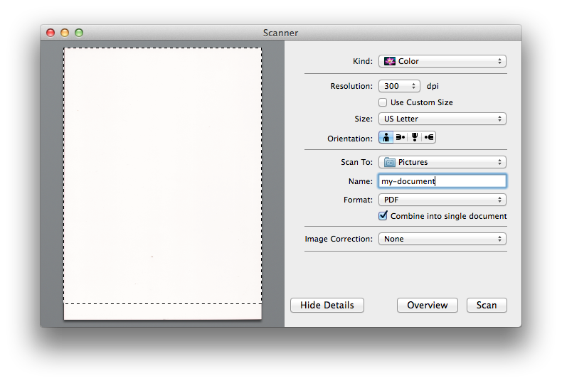 Combine multiple png files into one pdf. Scan pages and make