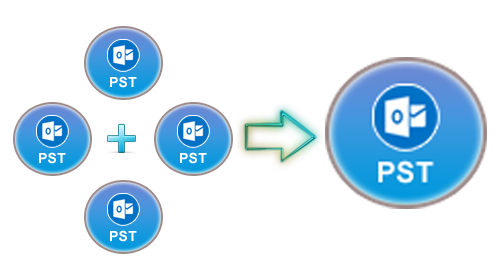 How to combine png files into one. Merge multiple pst in