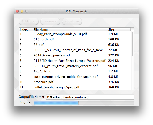 Combine png files into one. How to multiple pdf