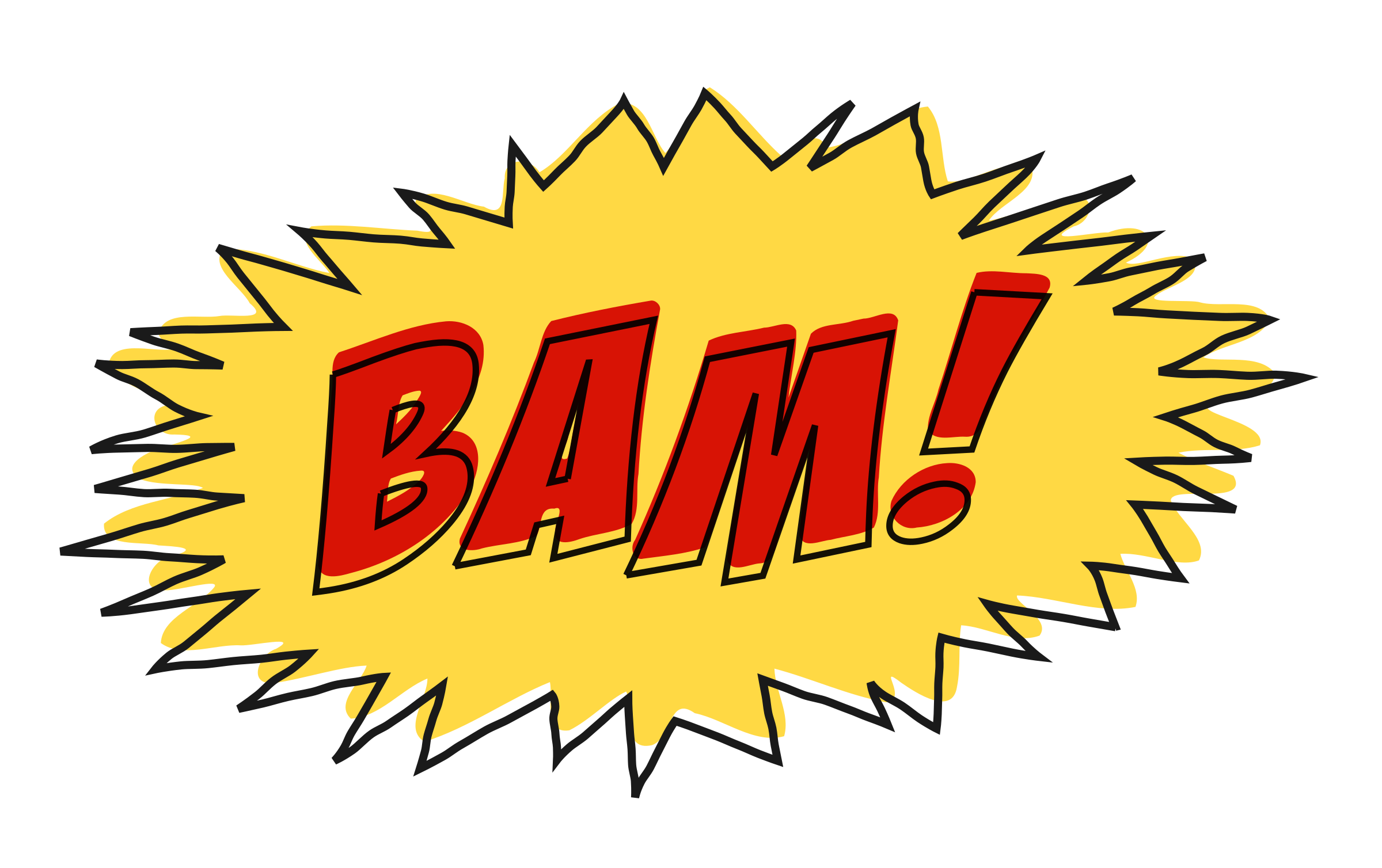 Sound effects png. Clipart bam comic book