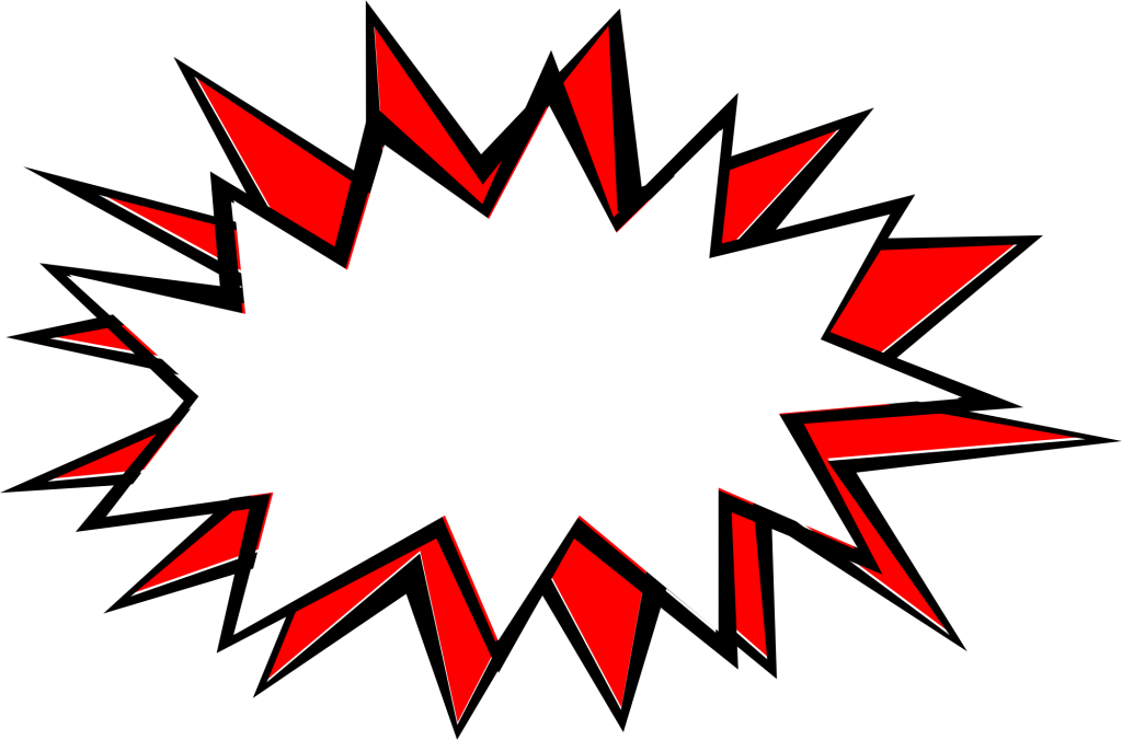 Transparent comic action bubble. Explosion png svg