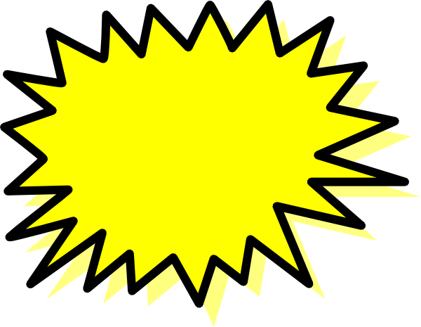 Comic book explosion bubble png. Yellow clip art at