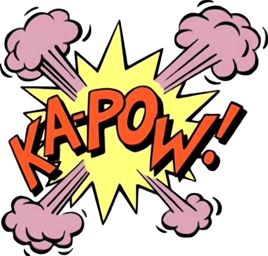 Comic book png pow. Ka cartoon expression by