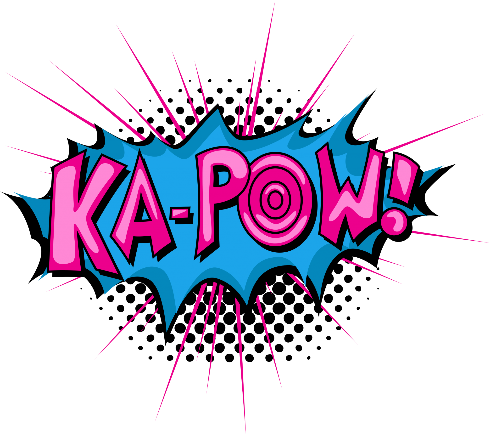 Comic book comics royalty. Pow! png pink picture black and white download