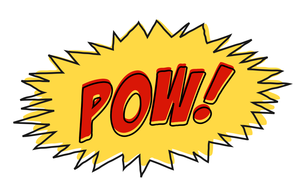 Comic book png pow. Onlinelabels clip art sound