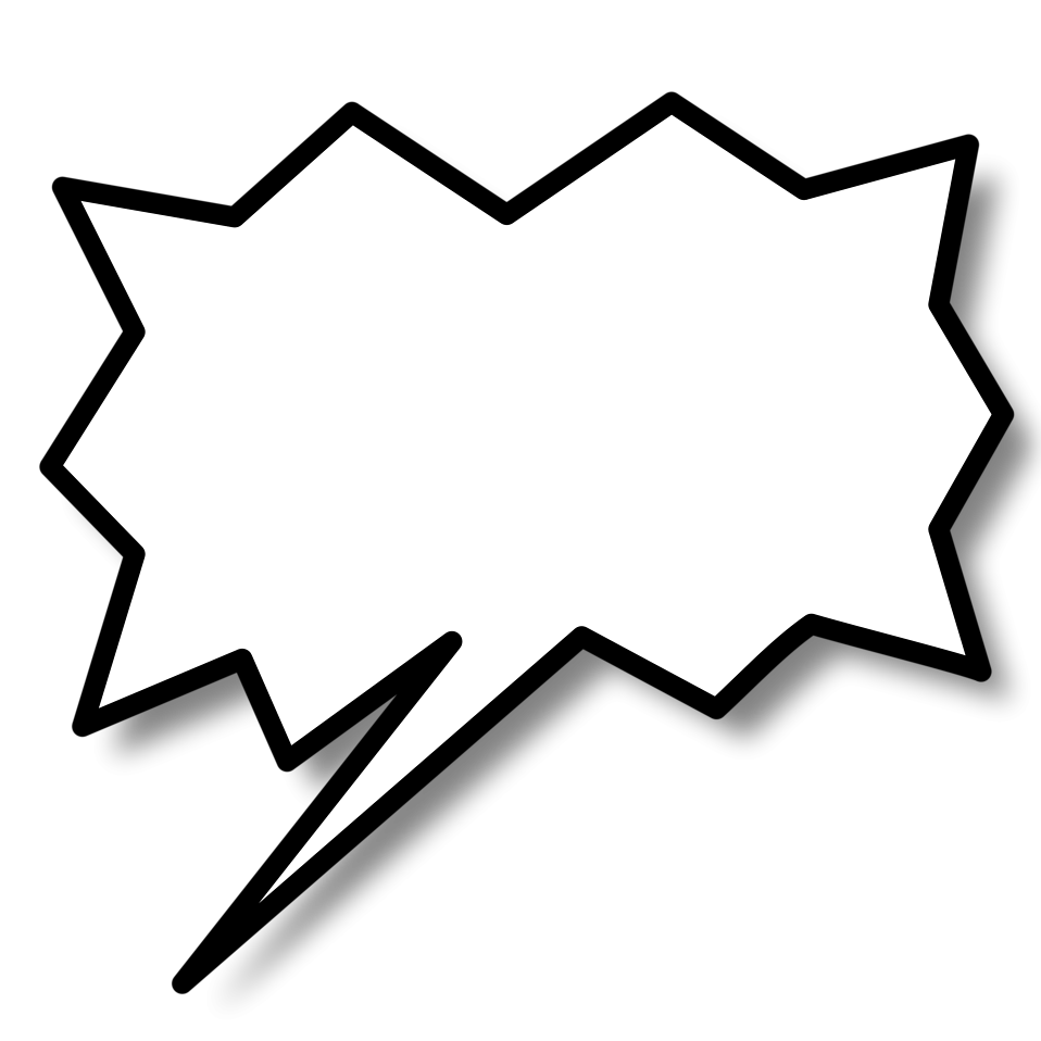 Comic book text bubble png. Word speech free stock