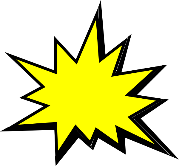 Yellow clip art at. Comic book png pow png black and white