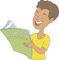 Comic clipart read comic. Search results for clip